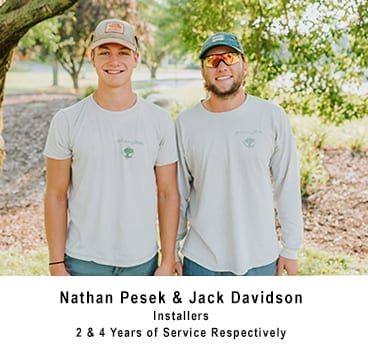 Nathan Pesek & Jack Davidson - Installers 2 years and 4 years of service respectively